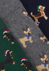Pier One - 3 PACK - Socks - dark blue/dark green/mottled dark grey - 2