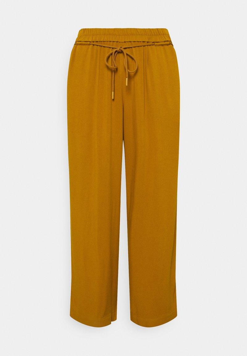 MY TRUE ME TOM TAILOR - PANTS FEMININE WIDE LEG - Trousers - california umber