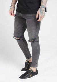 SIKSILK - DISTRESSED SLICE KNEE - Jeans Skinny Fit - dark grey - 4