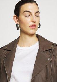 DEPECHE - JACKET - Leather jacket - dusty taupe - 3
