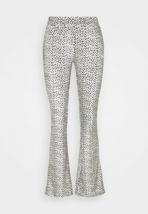 FLARED PANTS - Tracksuit bottoms - safari