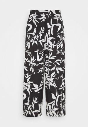 KAIA CROPPED PANT - Spodnie materiałowe - black/multi