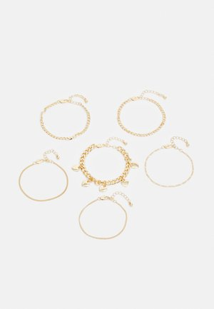 PCSIDSE BRACELET 6 PACK - Náramek - gold-coloured