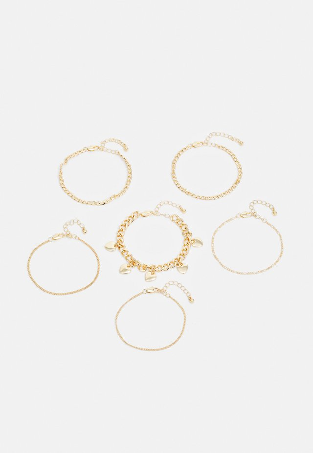 PCSIDSE BRACELET 6 PACK - Armbånd - gold-coloured