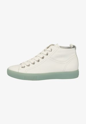 High-top trainers - white/mint