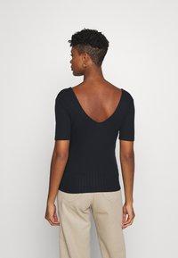 Lee - WRAP TEE - Print T-shirt - black - 2