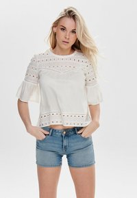 ONLY - ONLIRINA ANGLAISE - Blouse - off-white - 0