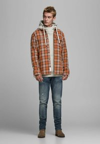 Jack & Jones PREMIUM - OVERSHIRT - Košile - burnt henna - 1