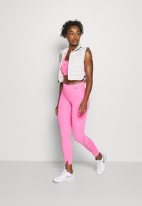 Nike Performance - SPEED 7/8 MATTE - Leggings - pink glow/gunsmoke - 1