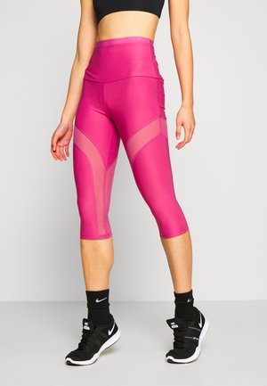 LEGGINGS - 3/4 sports trousers - purple blush