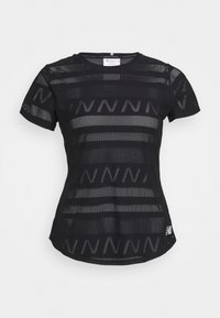 Q SPEED SHORT SLEEVE - Sports shirt - black
