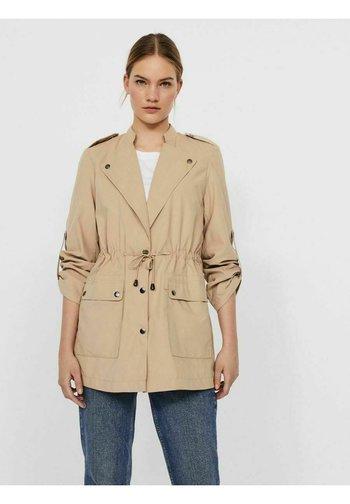 VMBETHANY JACKET - Short coat - beige/mottled beige