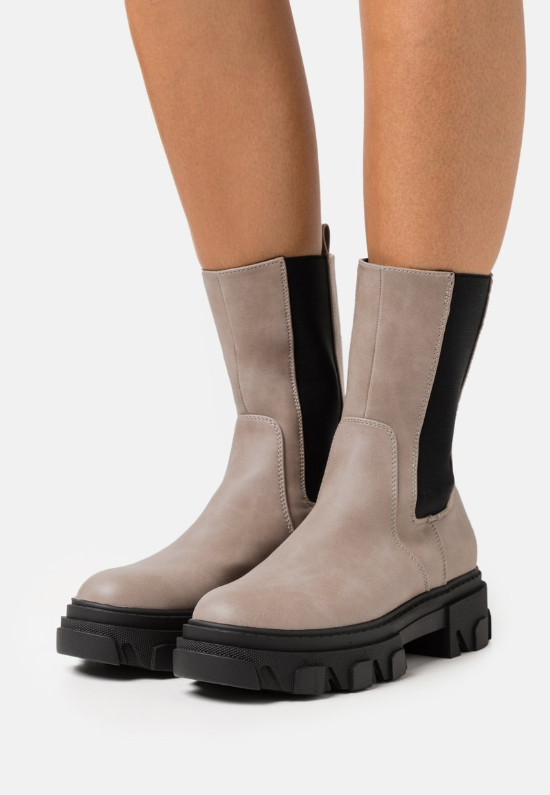 Even&Odd - Platform ankle boots - taupe