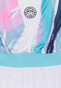 BIDI BADU - NIA TECH DRESS - Sportovní šaty - white/aqua - 2