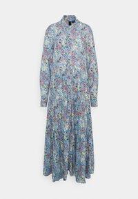 YAS Tall - YASSANTOS LONG SHIRT DRESS - Maxi dress - dusk blue/santos print - 0