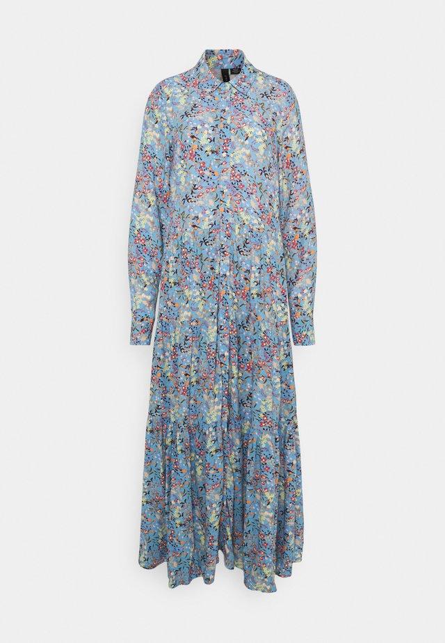 YASSANTOS LONG SHIRT DRESS - Vestito lungo - dusk blue/santos print