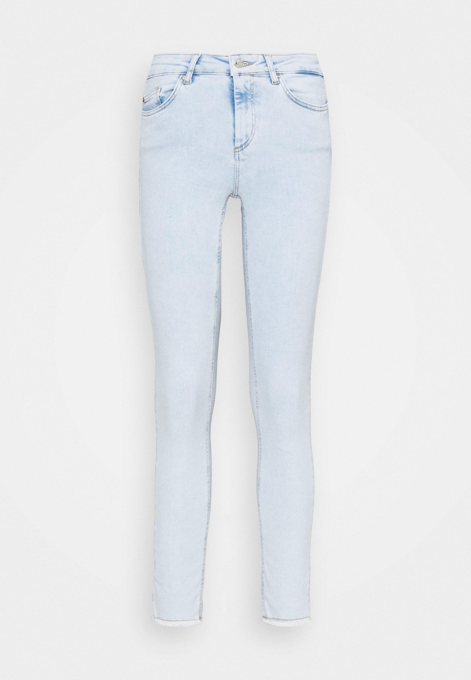 Donna ONLBLUSH LIFE MID RAW  - Jeans Skinny Fit - light blue