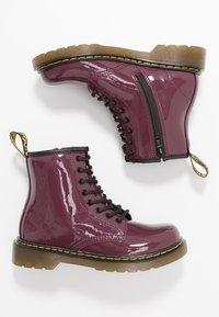 Dr. Martens - 1460 J PATENT - Lace-up ankle boots - plum - 0