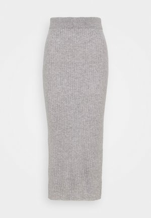 DETAIL SKIRT - Maxi skirt - light grey