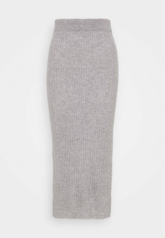 DETAIL SKIRT - Maxirock - light grey