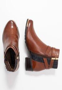 Caprice - Ankle boots - cognac/ocean - 3