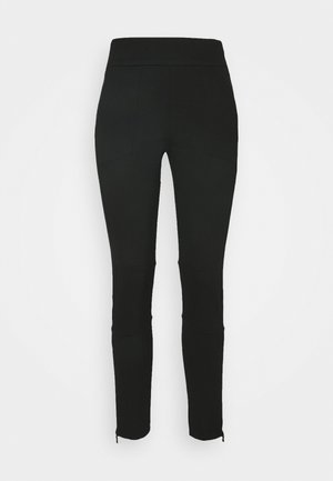 PANTZIP - Tracksuit bottoms - black