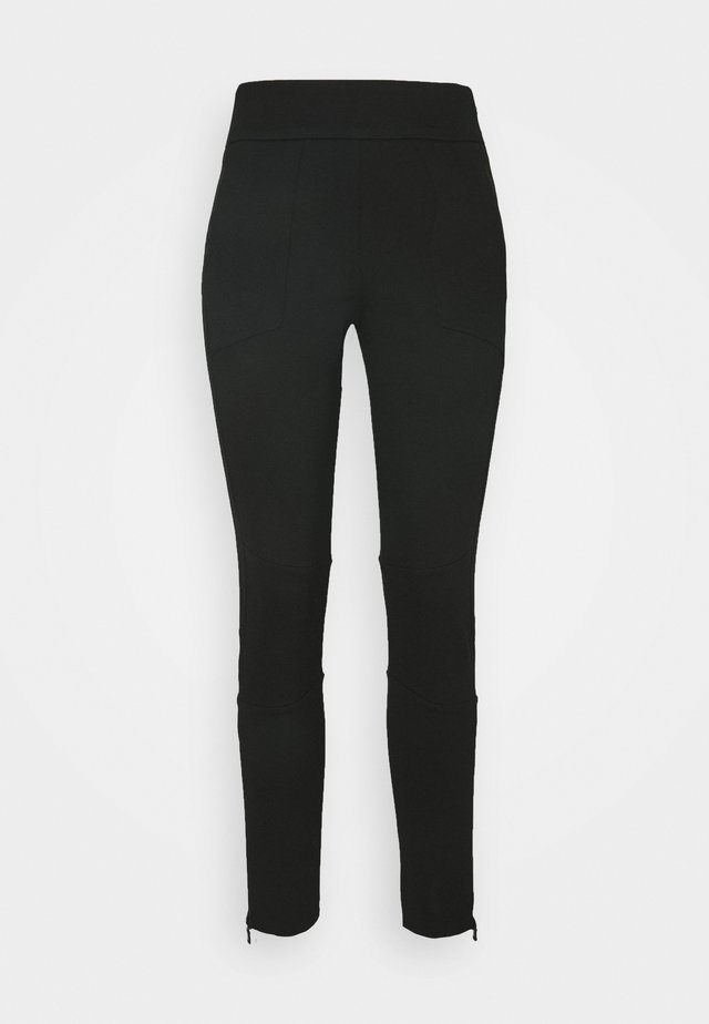 PANTZIP - Trainingsbroek - black