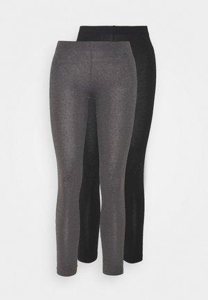 2 PACK - Legíny - black/mottled dark grey