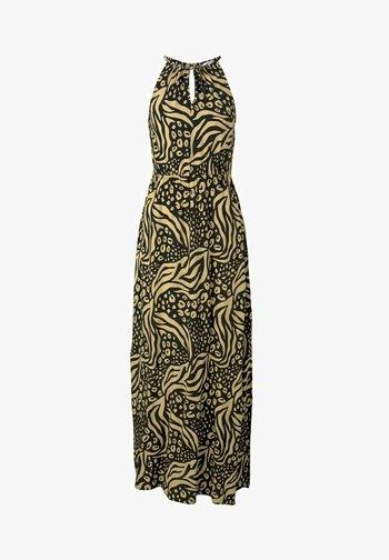 Maxi dress - black animal print