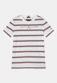 Tommy Hilfiger - ESSENTIAL STRIPE - Camiseta estampada - white - 0