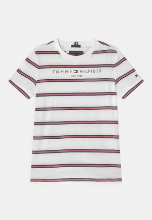 ESSENTIAL STRIPE - T-shirt con stampa - white