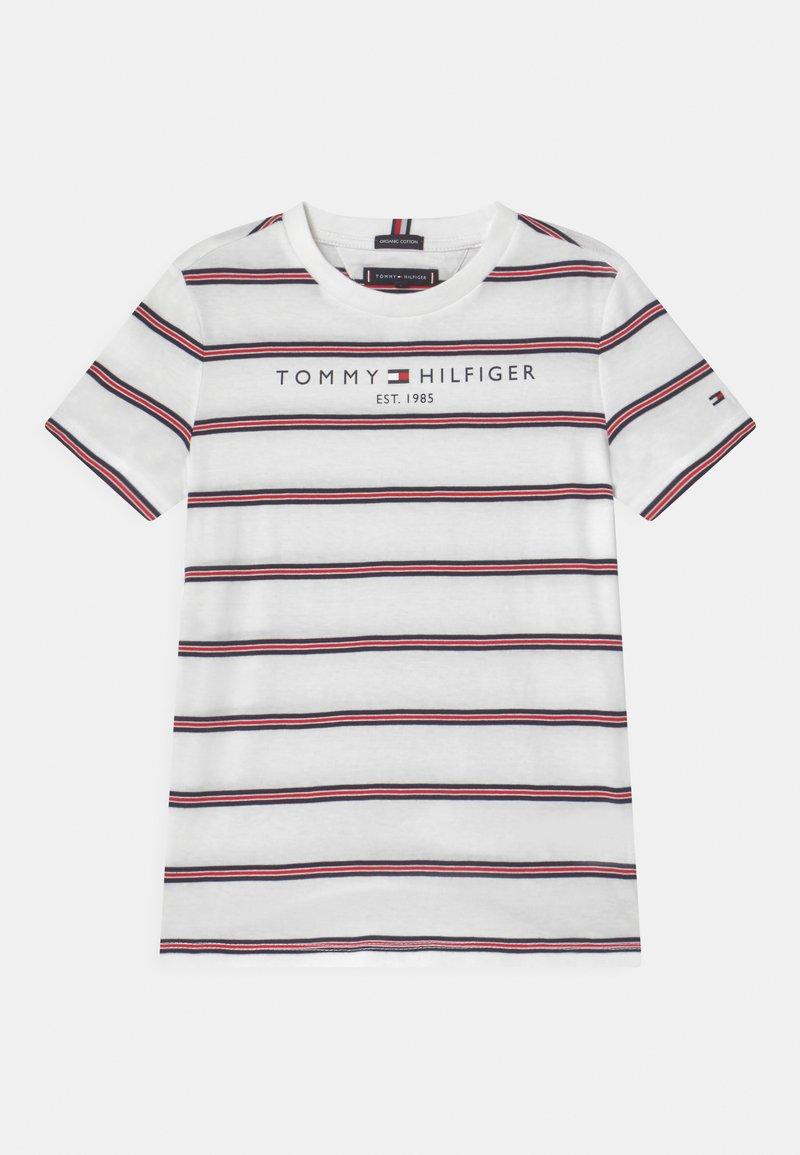 Tommy Hilfiger - ESSENTIAL STRIPE - Camiseta estampada - white