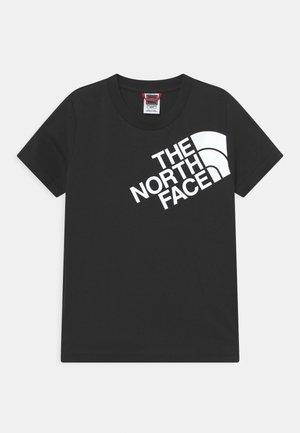 SHOULDER LOGO TEE UNISEX - T-Shirt print - black/white