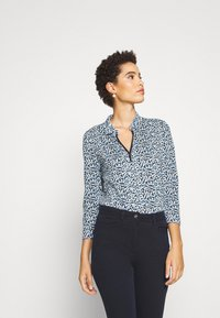 TOM TAILOR - BLOUSE WITH COLLAR - Blouse - navy blue - 0