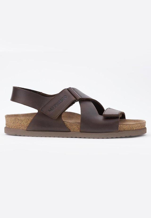 NADEK - Sandals - dark brown