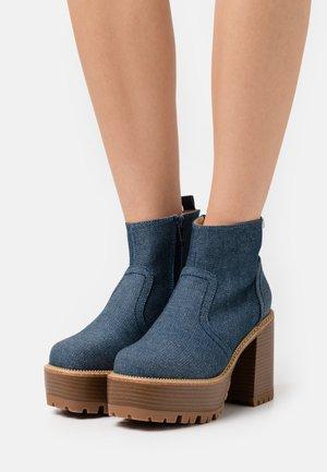 BRAT - Platform ankle boots - denim