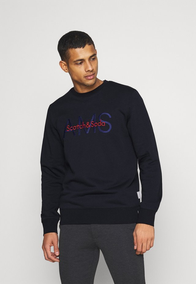 CREWNECK WITH LOGO ARTWORK - Sweater - night