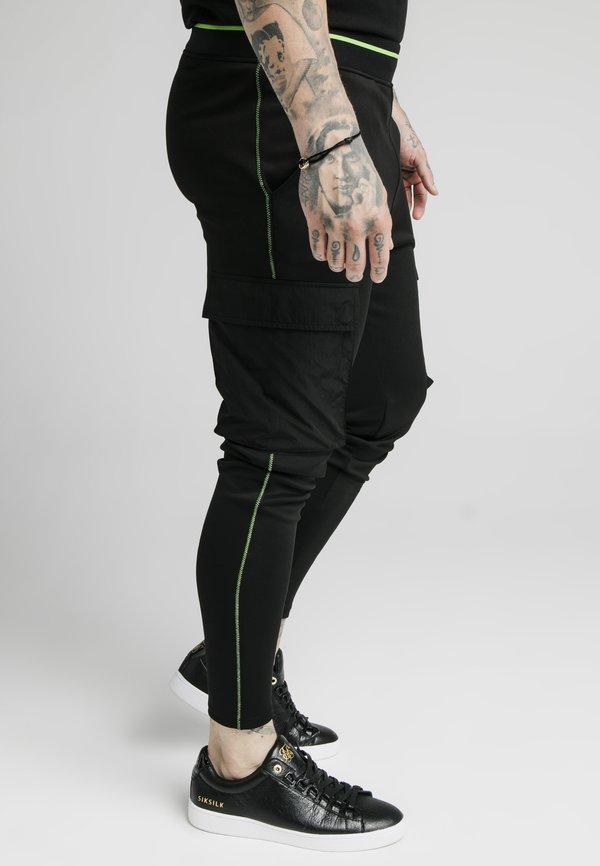 SIKSILK ADAPT CRUSHED PANT - BojÓwki - black/czarny Odzież Męska JPQW