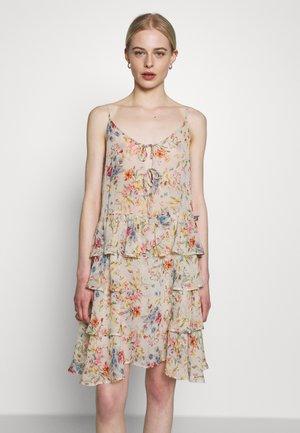 DRESS - Korte jurk - beige/multi-coloured