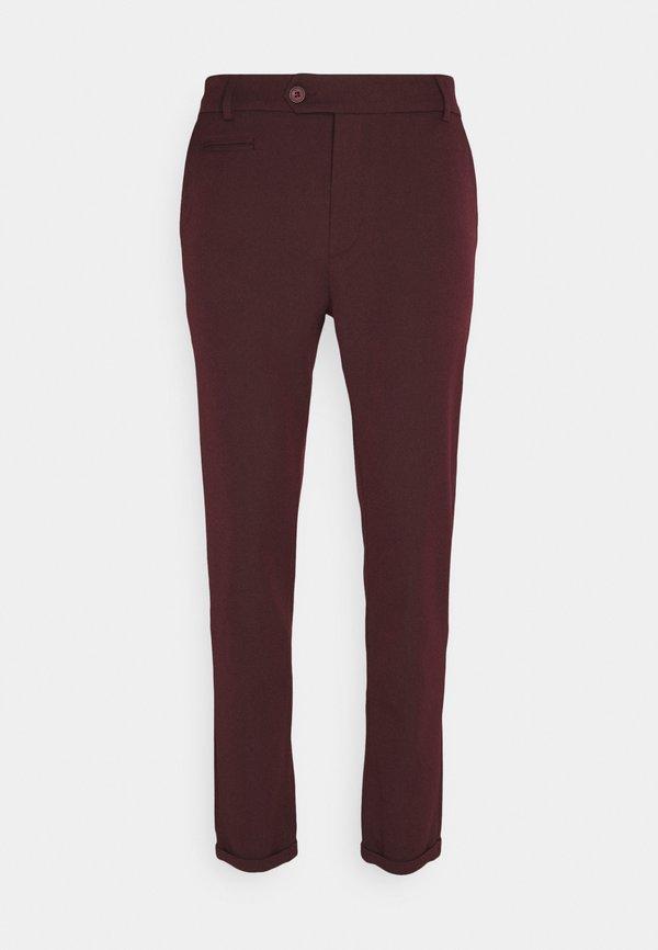 Les Deux COMO SUIT PANTS SEASONAL - Spodnie materiałowe - burgundy/bordowy Odzież Męska FLKP