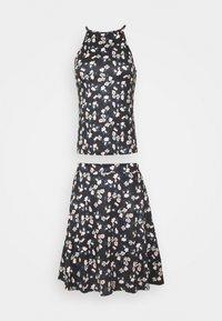 VIBE SINGLET SKIRT SET - A-line skirt - black brice combo