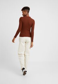 ONLY - ONLEMMA HIGH NECK - Long sleeved top - cherry mahogany - 2