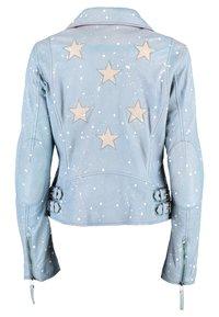 DNR Jackets - Leather jacket - light blue - 1