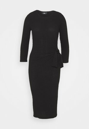 TIE SIDE DRESS - Sukienka etui - black