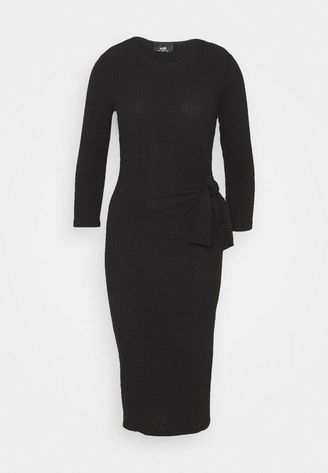 TIE SIDE DRESS - Etui-jurk - black