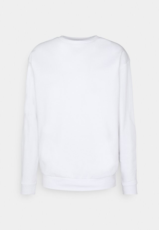 CREWNECK UNISEX DAMAGE - Collegepaita - white