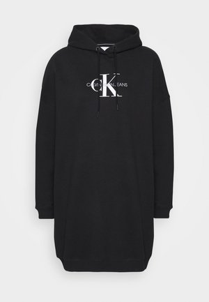 MONOGRAM HOODIE DRESS - Denní šaty - black
