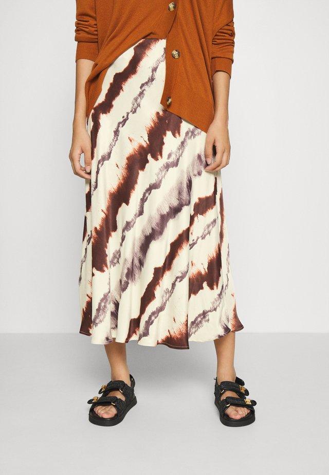 BYHALIMA SKIRT - A-line skirt - tortoise shell