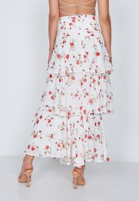 True Violet - TIERED  - Maxi skirt - white - 2