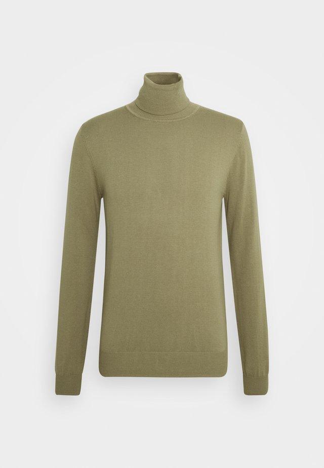 HENRIK - Stickad tröja - trench green